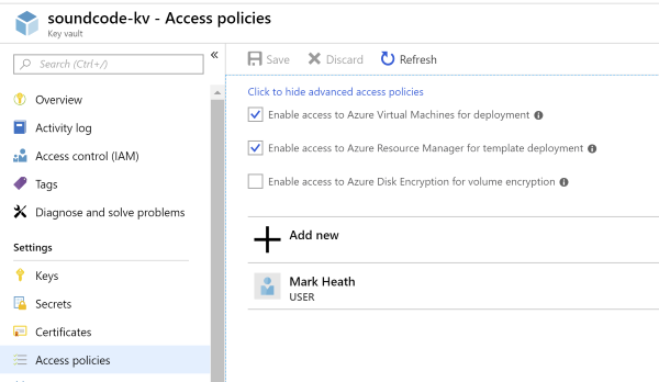 Configure Key Vault access policies